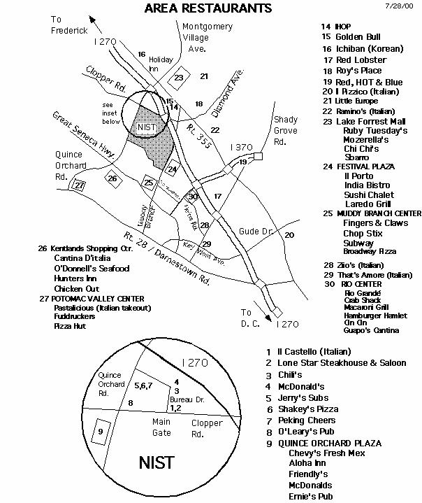 Map Of Gaithersburg Area